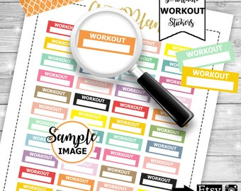 WorkOut Planner Stickers, Keep fit Stickers, WorkOut Headers, Stickers for Planners