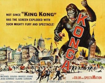 Konga - King Kong - Wall Art - Movie Print - Movie Poster - Movie Art - Movie Lover - 8x10 - 11x14 (JS00566)