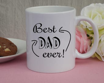 """Mug """"Best Dad ever!""""  / Gift / Cup / father's day"""