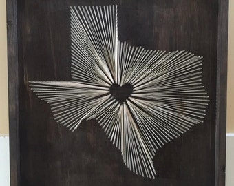 State String Art Texas Nail and String Art TX String Wall Art & wall string art - Design Decoration