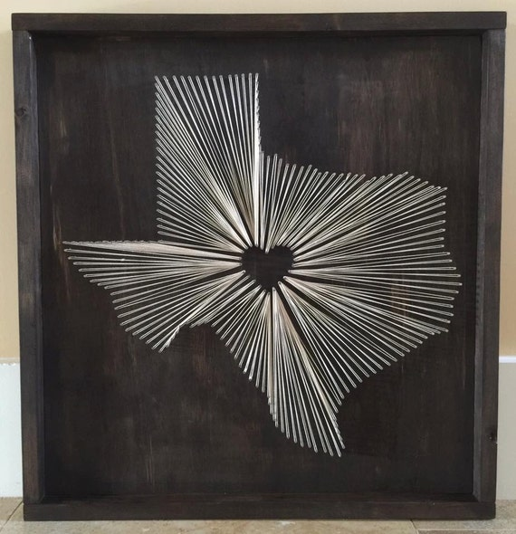 State string art texas nail and string art tx string wall like this item prinsesfo Image collections