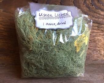 Usnea lichen, wild-harvested.  1 ounce, dried