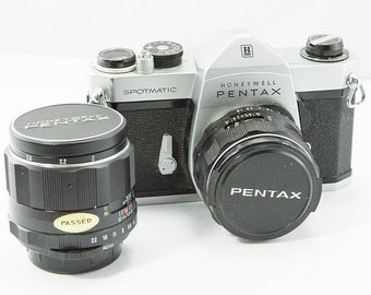 Pentax Spotmatic with 2 Lenses