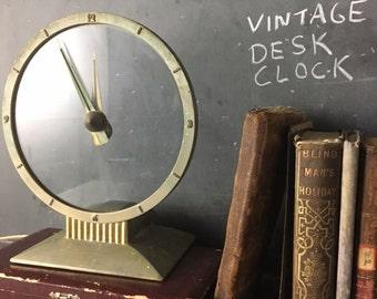 SALE Vintage Jefferson Golden Hour Desk Clock - price reduced
