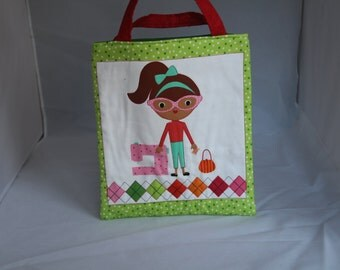 Handmade Cotton Children's Shopping Tote Bag