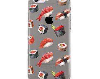 Sushi iPhone 8 Case, iPhone 7 case, iPhone 6 case, iphone 6s case, iPhone 6s plus transparent clear case