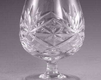 "Thomas WEBB Crystal - OXFORD Cut - Brandy Glass / Glasses - 4"""