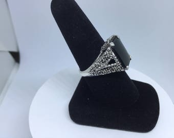 Black Onyx on Sterling ( Free Shipping )