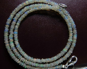 Natural ethiopian Welo opal Smooth beads Roundel  Beads Necklace 2 MM to 3 MM 16 Inches Welo opal Roundel beads #001