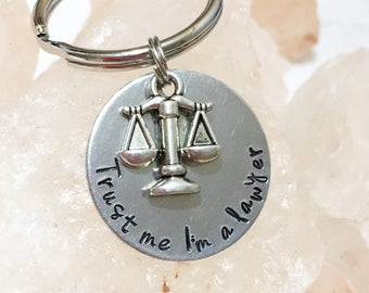 Lawyer Key Chain, Attorney Key Chain, Gift for Lawyer, Gift for Law Student, Law School Gift, Graduation Gift