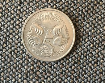 1979 Australia 5 cent coin