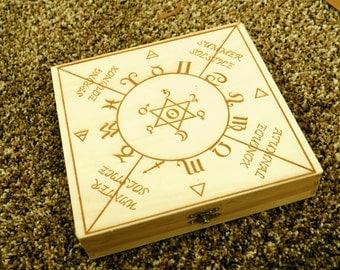 Magick/Pagan Box Engraved with Special Zodiac Design