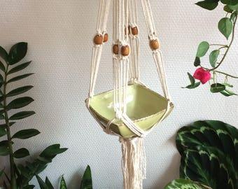 """Macrame """"PERLA"""" hanging planter"""