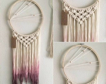 Dream catcher | ombre, dip dye, gypsy, hippie, home decor, nursery