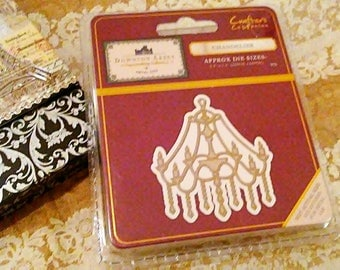 Crafter's Companion Downton Abbey Metal Cutting Templates ~Chandelier~