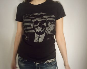 Not With Him - Skull Vintage Tee