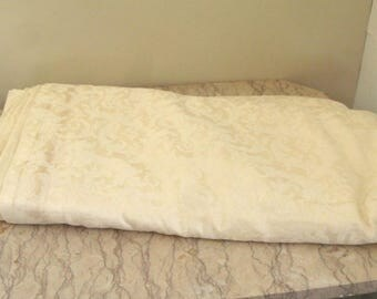 large piece of vintage Italian linen damask
