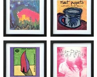 Meat Puppets - Framed Album Art - Set of 4 Images