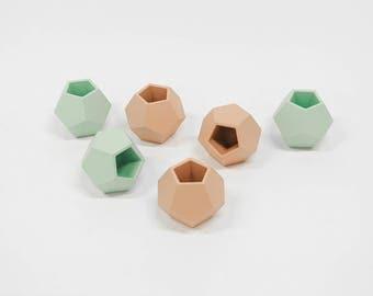 Concrete planter vase dodecahedron
