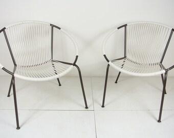 Mid-Century Hoop Chair Set