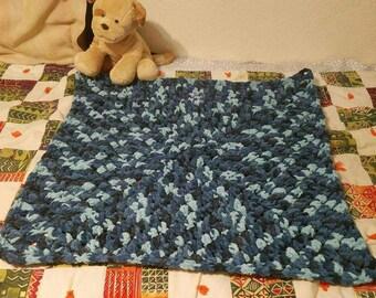 Blue & Black Baby Boy's Blanket