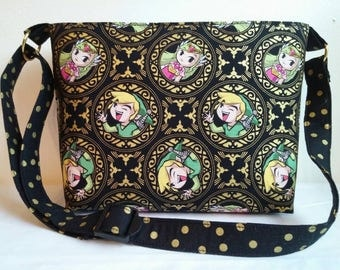 ZELDA Zipper shoulder bag/ crossbody