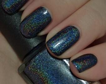 Da Dell - Holo Dark Navy Blue Linear Holographic Nail Polish