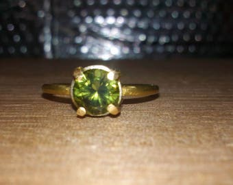 One of a kind 18ct gold 1ct green sapphire ring