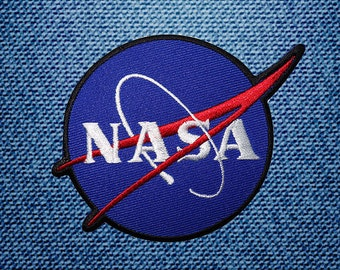 Nasa Logo Patch Embroidered Iron On Patches DIY By IronOnDIY
