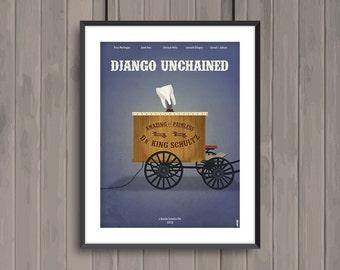 DJANGO UNCHAINED, minimalist movie poster