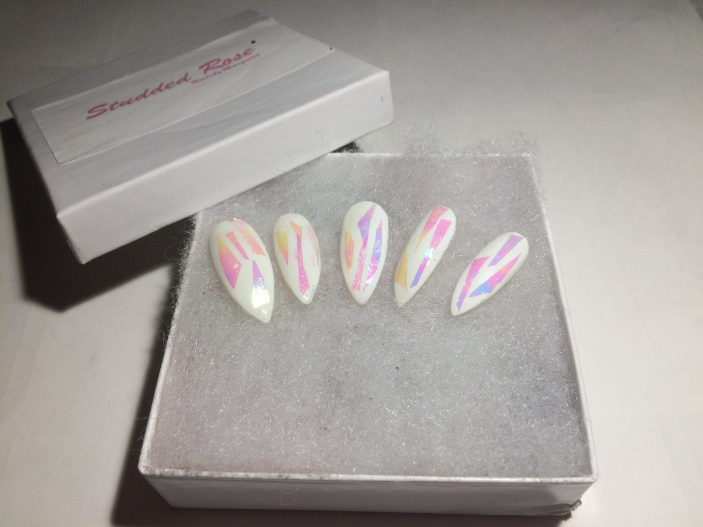 Unicorn dreamscustom designer press on nails any shape and sold by studdedrosenails prinsesfo Choice Image