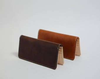 Wallets long - Vegetable Tanned Leather