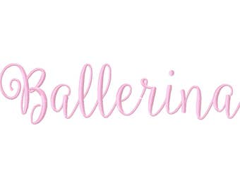 3 Sizes Ballerina Script Font Embroidery Fonts BX Embroidery Fonts PES Alphabets Digital Machine Embroidery Instant Download