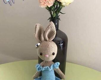 Charlotte Ballerina Bunny - handmade crochet MADE TO ORDER