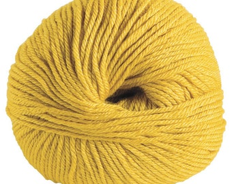 DK Knit Picks Gloss DK, Merino Wool/Silk yarn - Honey (Color #24986)