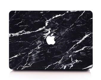 Classic Black Marble MacBook Case, MacBook Hard Case, MacBook Air Protection, MacBook Pro 2016 Touch Bar Case, MacBook Pro Retina Hard Case