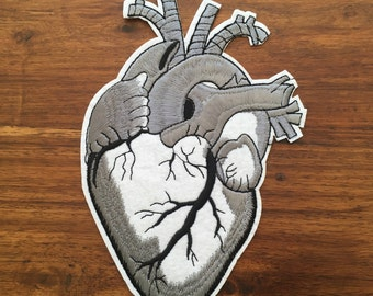 Large Anatomical Heart - Iron on Appliqué Patch