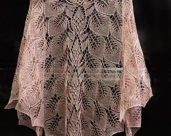 Knitted scarf shawl, knit shawl, knitted shawl, Dark beige shawl, knitted scarf, knit scarf, delicate shawl, crochet shawl, hand knit shawl