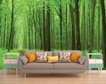 Forest Wall Decal, Tree Wall Decal, Tree Wall Mural, Forest Wall Covering, Part 67