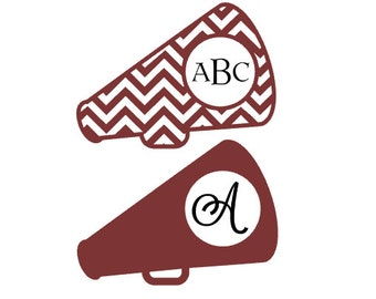 Cheerleader Megaphone Personalized Decals