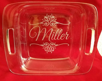 Personalized Pyrex Casserole Bakeware