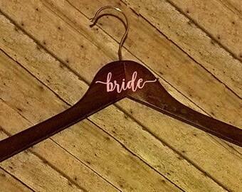 4 Personalized Hangers - bride - bridesmaid - bundle