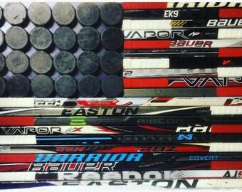 Hockey Stick American Flag