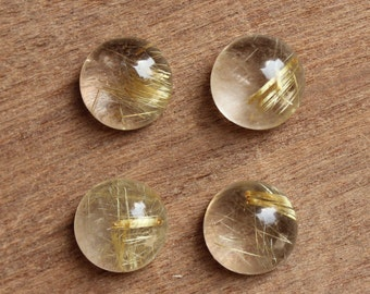 Rutilated Quartz golden rutile Round shape all sizes available (8-18 mm) gemstone supplies for jewelry, smaller sizes on request.