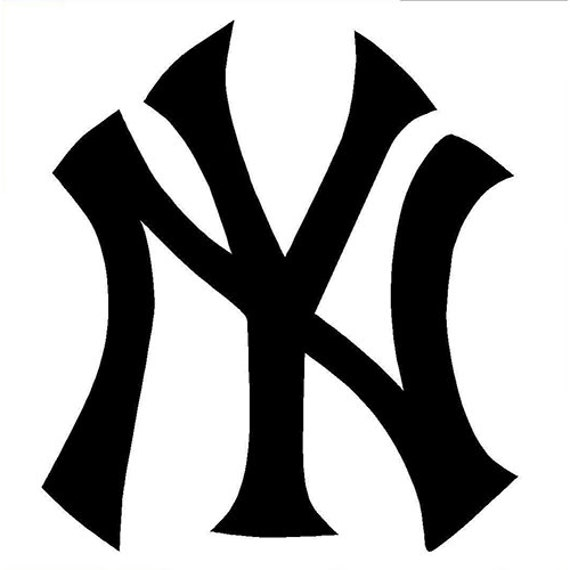 Vinyl Decal Sticker - New York Yankees Decal for Windows, Cars, Laptops, Macbook, Yeti, Coolers, Mugs etc