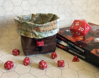 Adventurer Tabletop Drawstring Gaming Dice Bag Pouch Dungeons And Dragons Dnd Role-playing Board Game Miniatures Polyhedral Dice Rpg