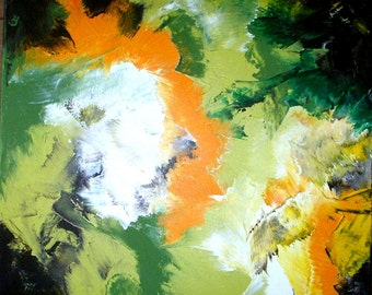 Acrylic painting > Rex Earth - acrylic painting > GREEN EARTH <