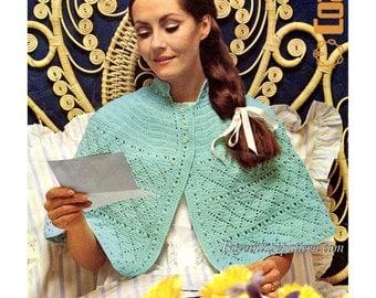 Vintage Bed Cape Crochet pattern in PDF instant download version