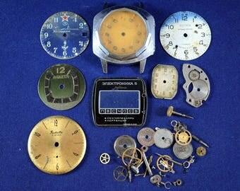 8+ Watch Face Dials, Watch parts, For Steampunk, Antique details, Steampunk Supplies, Old Face Dials, Jewellery making, Craft cyberpunk