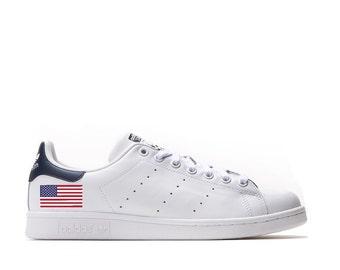 American Flag Adidas Stan Smith Custom USA Sneakers